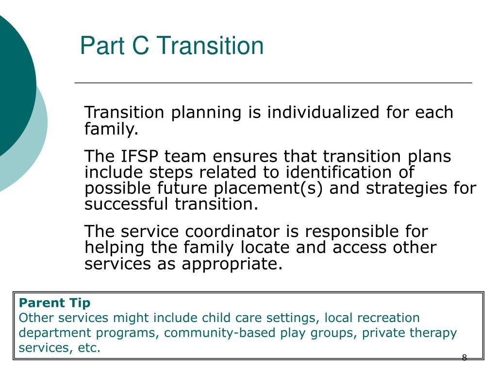 Part C Transition