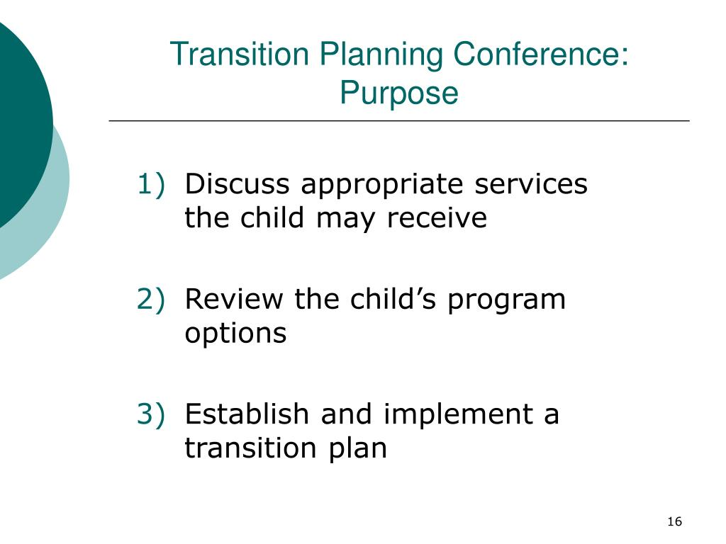 Transition Planning Conference: