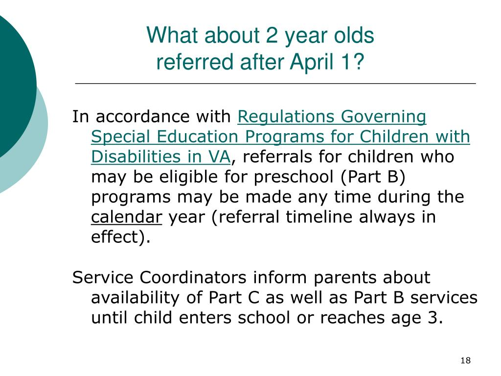 What about 2 year olds referred after April 1?