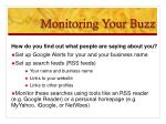 monitoring your buzz