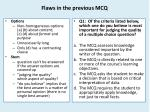 flaws in the previous mcq