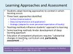 learning approaches and assessment