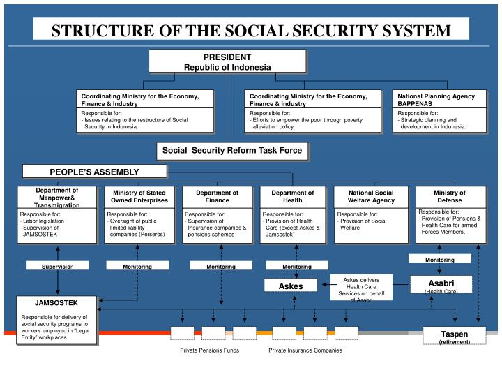 STRUCTURE OF THE SOCIAL SECURITY SYSTEM