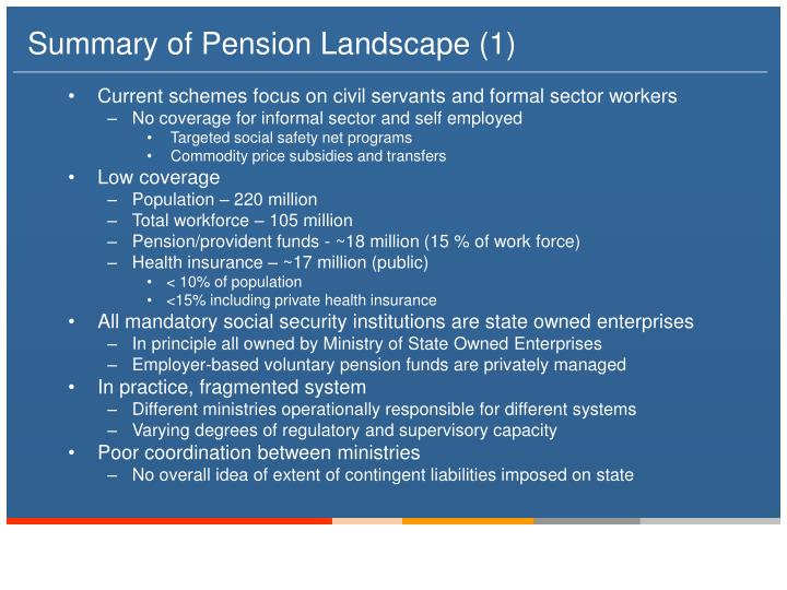 Summary of Pension Landscape (1)