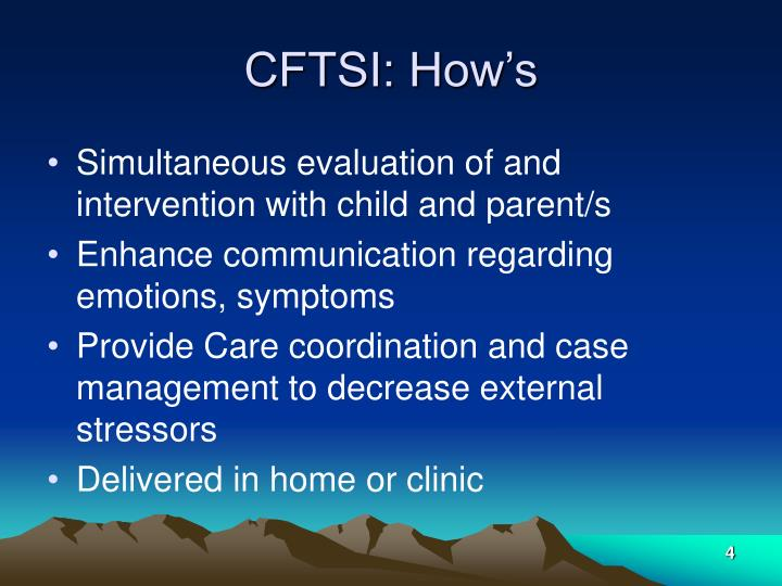 CFTSI: How's