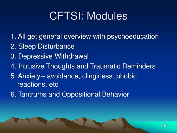 CFTSI: Modules