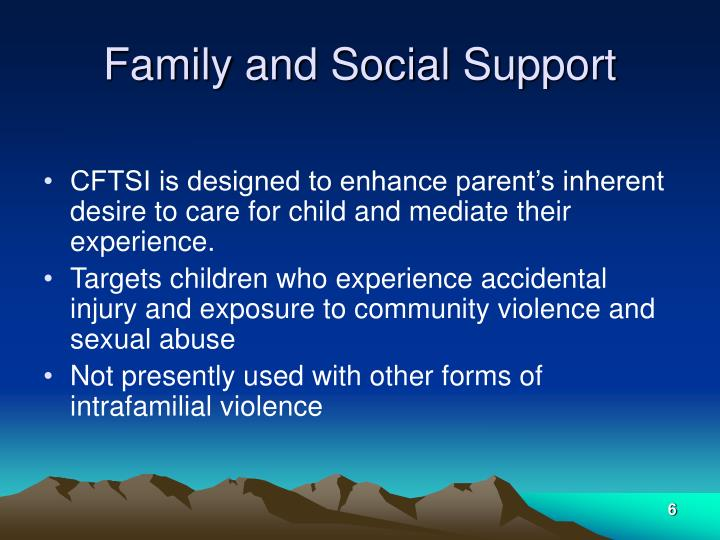 Family and Social Support