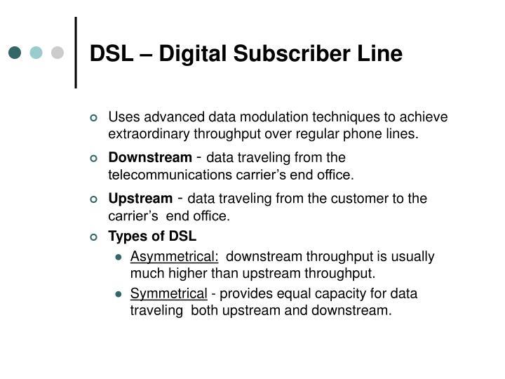 DSL – Digital Subscriber Line