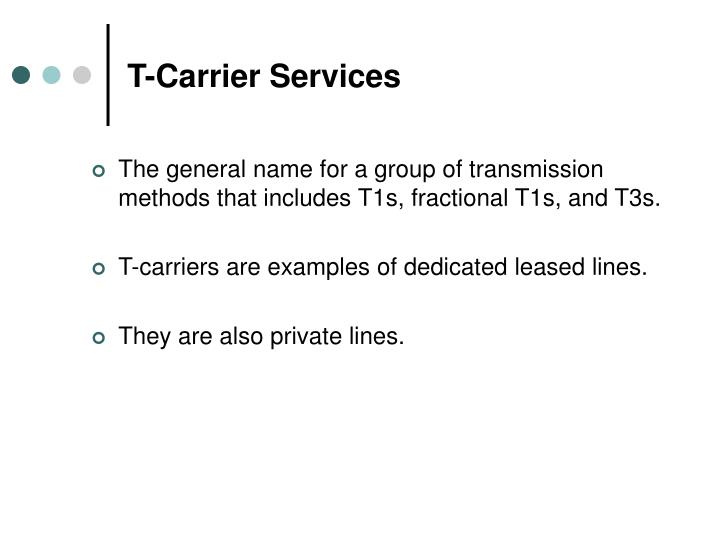 T-Carrier Services