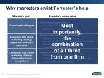 why marketers enlist forrester s help