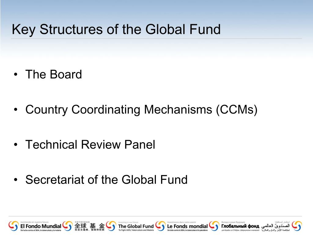 Key Structures of the Global Fund