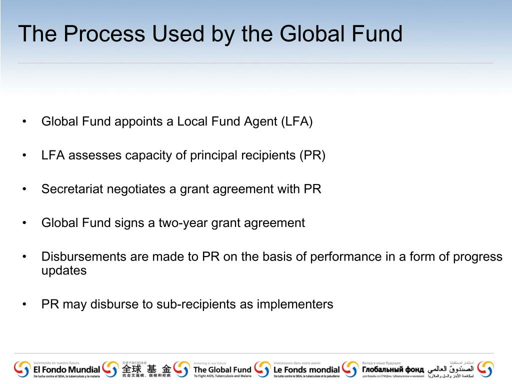 The Process Used by the Global Fund