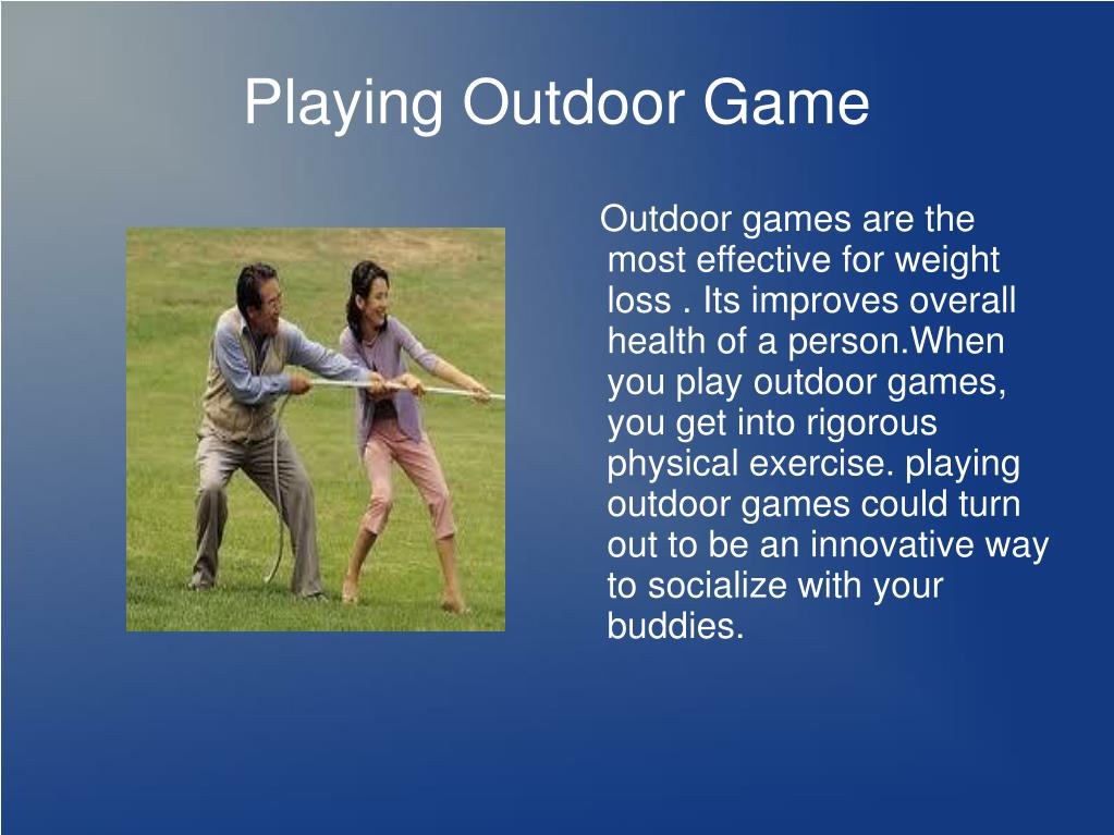 Playing Outdoor Game