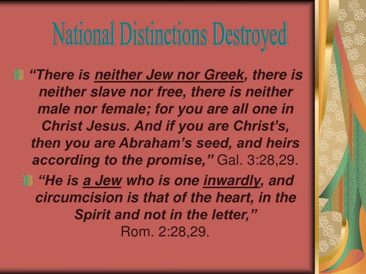 National Distinctions Destroyed