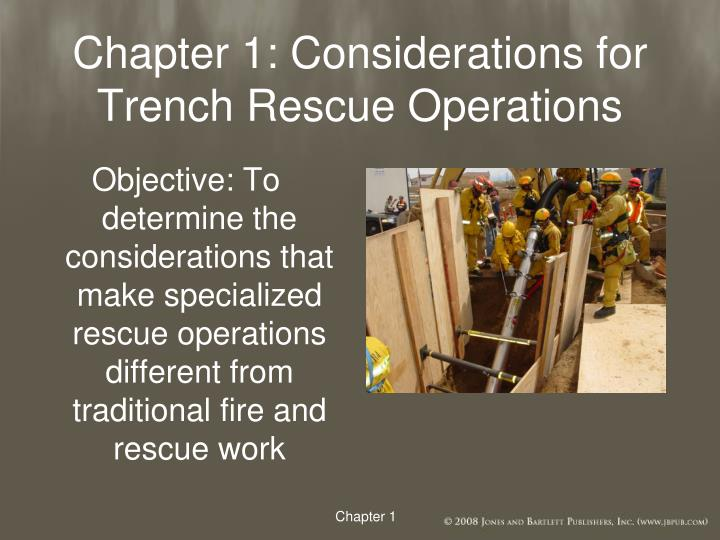 Chapter 1: Considerations for