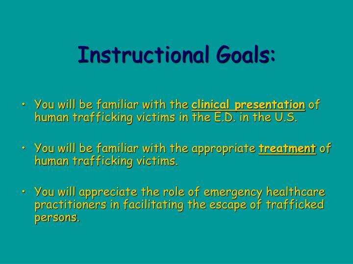 Instructional goals