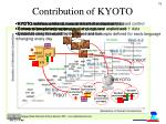 contribution of kyoto