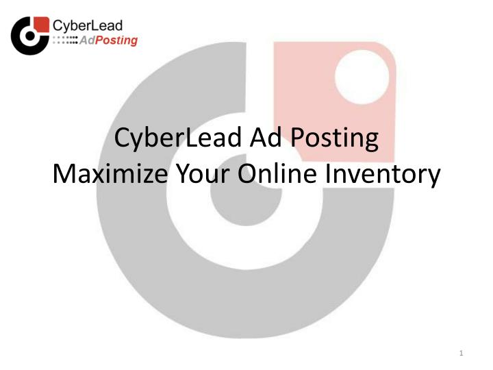 cyberlead ad posting maximize your online inventory n.