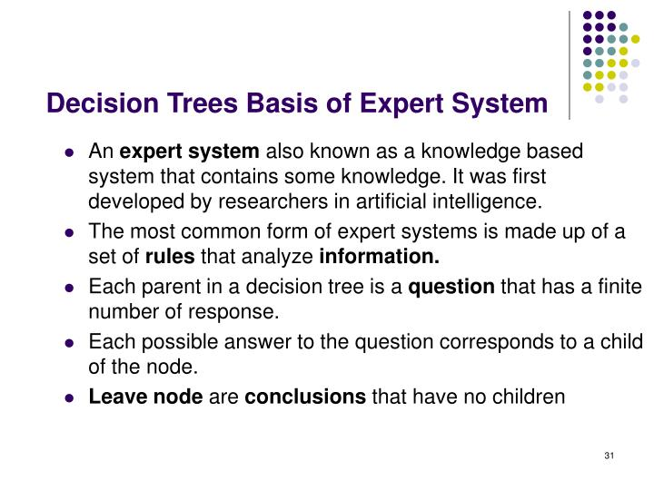 Decision Trees Basis of Expert System