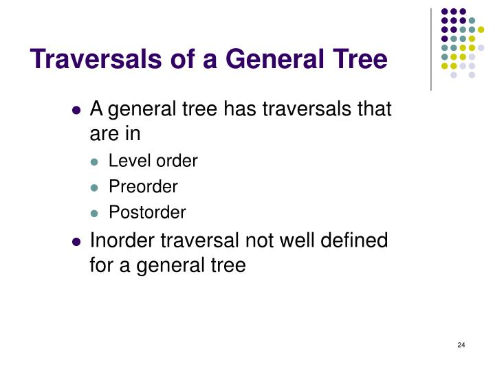 Traversals of a General Tree