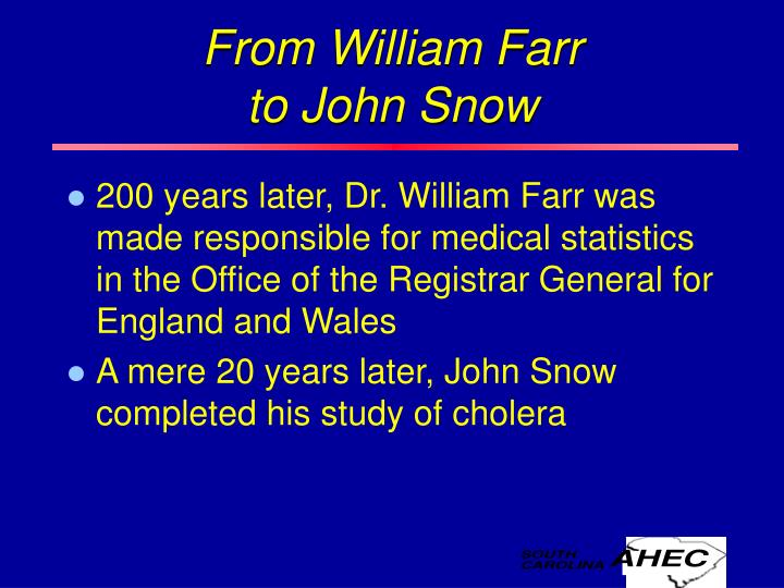 From William Farr