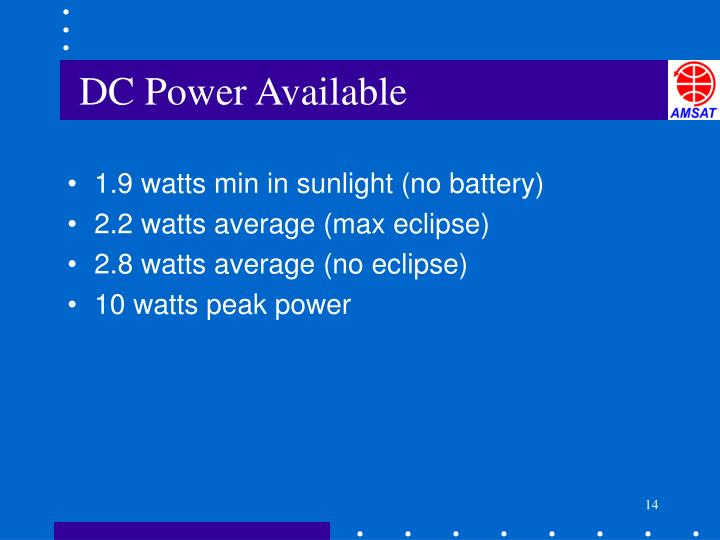 DC Power Available