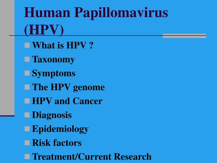 Human papillomavirus hpv1