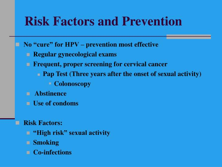 Risk Factors and Prevention