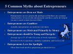 5 common myths about entrepreneurs