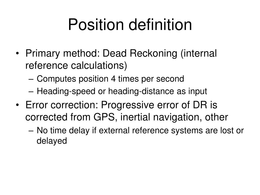 Position definition