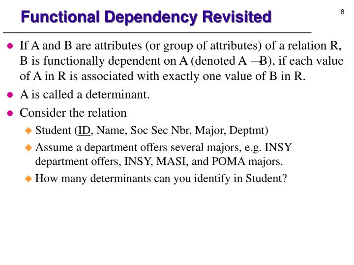 Functional Dependency Revisited