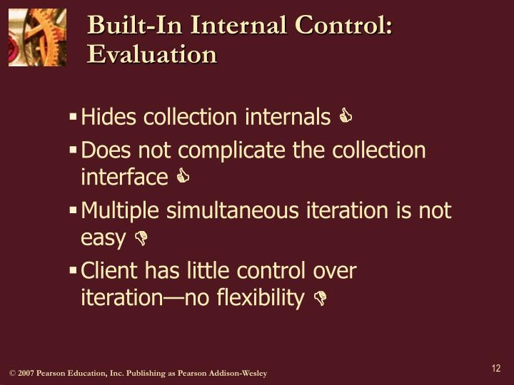 Built-In Internal Control: Evaluation