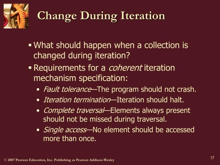 Change During Iteration
