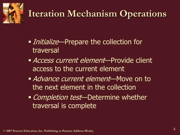 Iteration Mechanism Operations