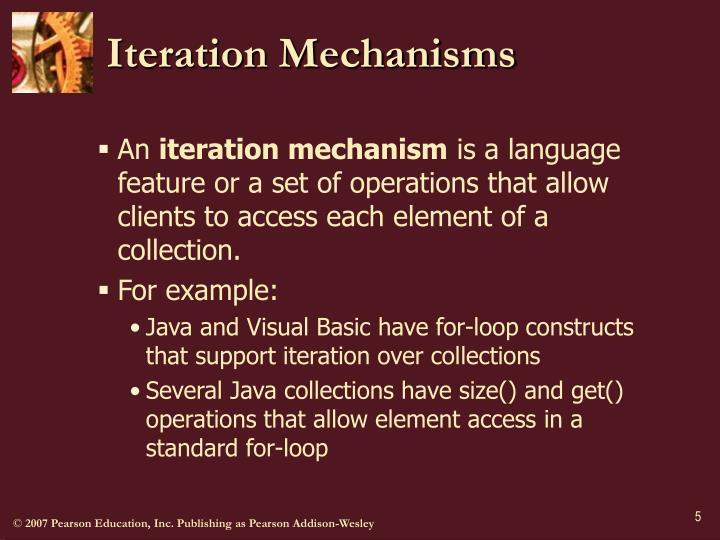 Iteration Mechanisms