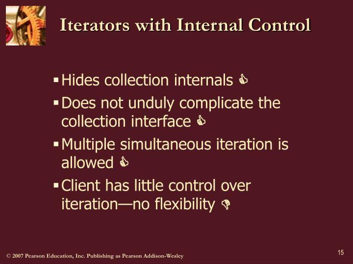 Iterators with Internal Control