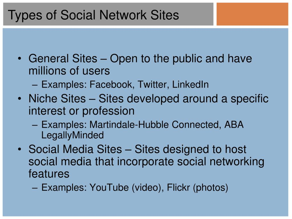 Types of Social Network Sites