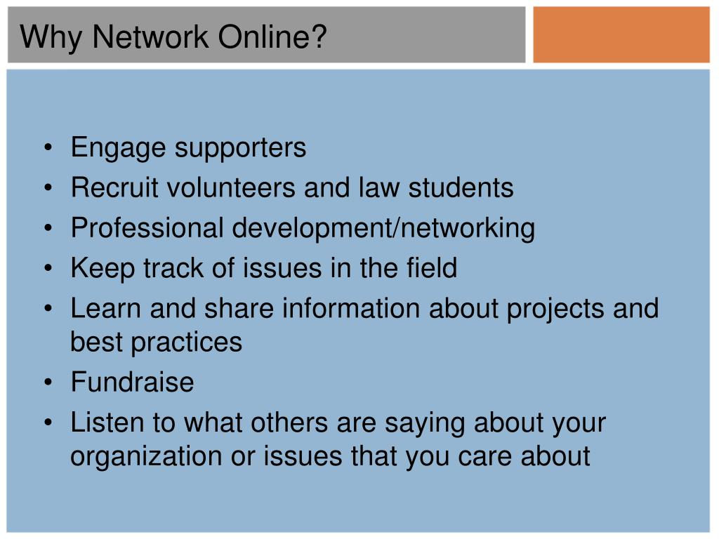 Why Network Online?