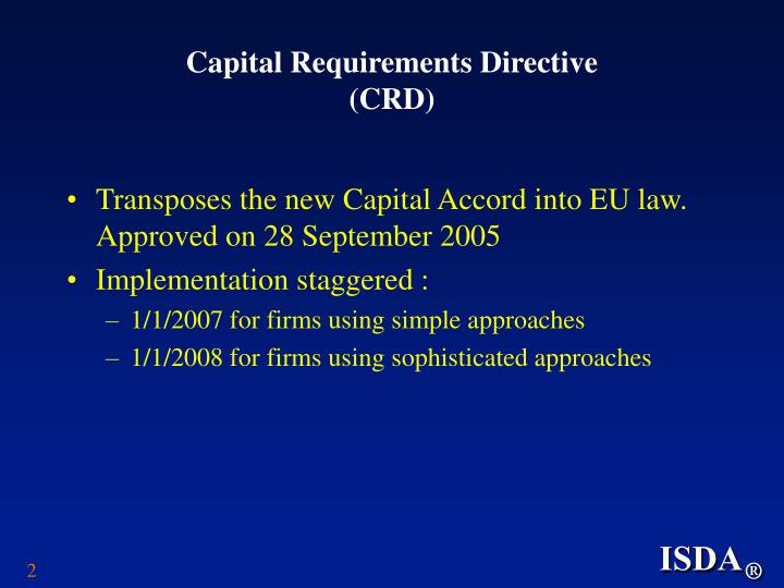 Capital requirements directive crd