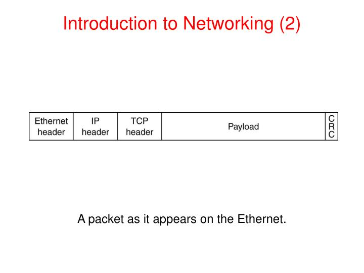 Introduction to Networking (2)