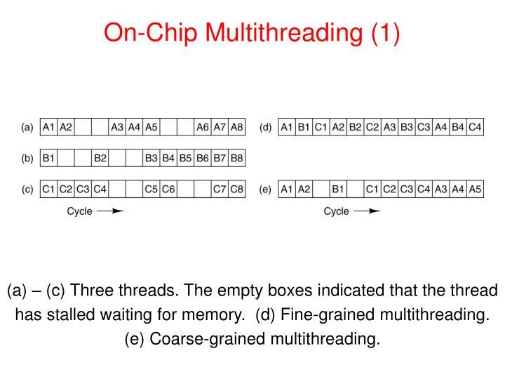 On-Chip Multithreading (1)