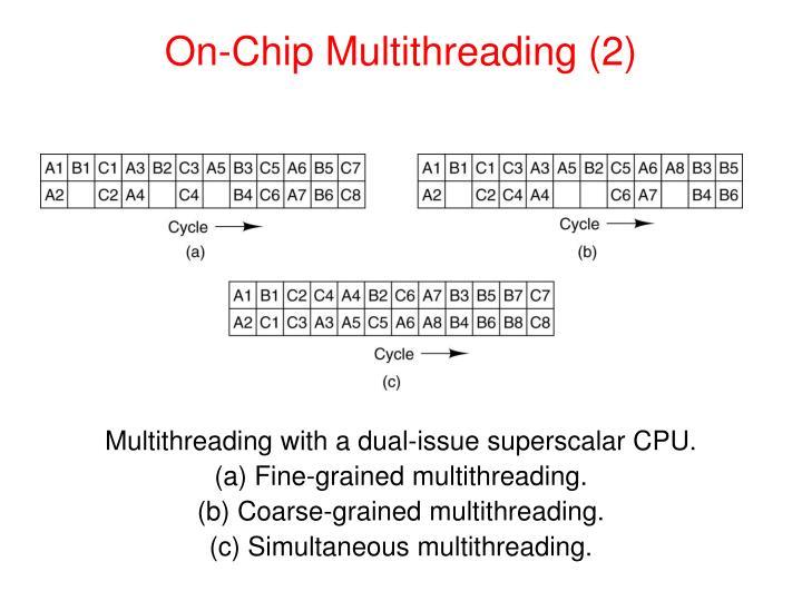 On-Chip Multithreading (2)