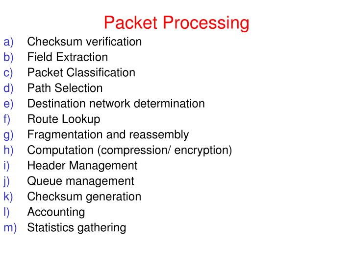 Packet Processing