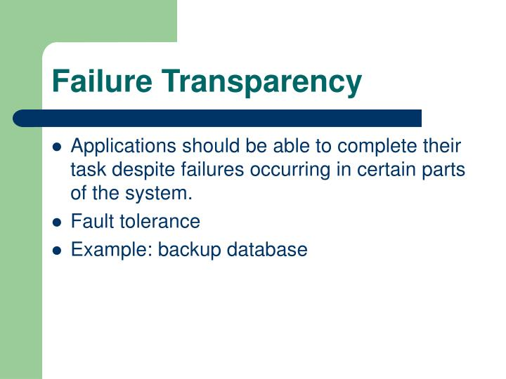 Failure Transparency