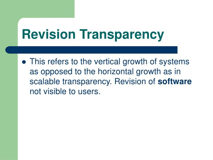 Revision Transparency