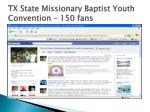 tx state missionary baptist youth convention 150 fans
