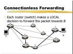 connectionless forwarding
