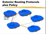 exterior routing protocols plus policy
