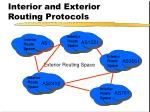 interior and exterior routing protocols