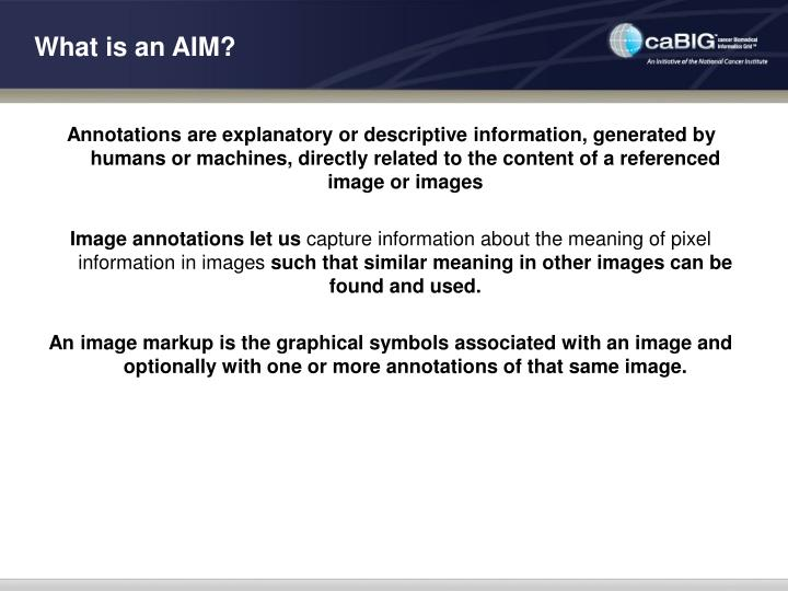 What is an aim